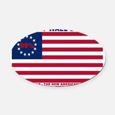 99-Percent-New-American-Revolution Oval Car Magnet