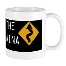 road to lahaina 10x3 200dpi black Small Mug