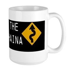 road to lahaina 10x3 200dpi black Mug