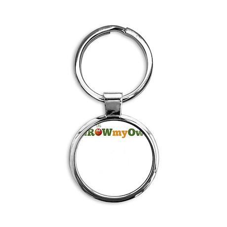 igrowmyown_chicken01b_10x10_dark Round Keychain