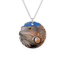 Iguana rnd orn Necklace