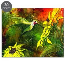 HummingBird with Sunflowers Puzzle