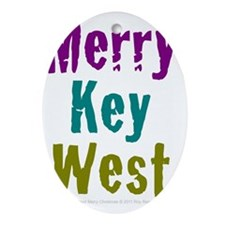 4.5x5.75at250MerryKeyWest Oval Ornament