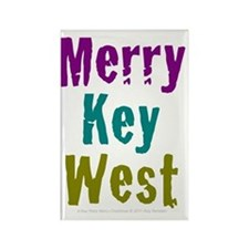 4.5x5.75at250MerryKeyWest Rectangle Magnet