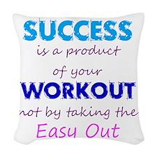 WorkoutSuccess Woven Throw Pillow