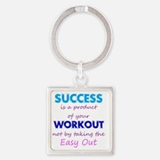WorkoutSuccess Square Keychain