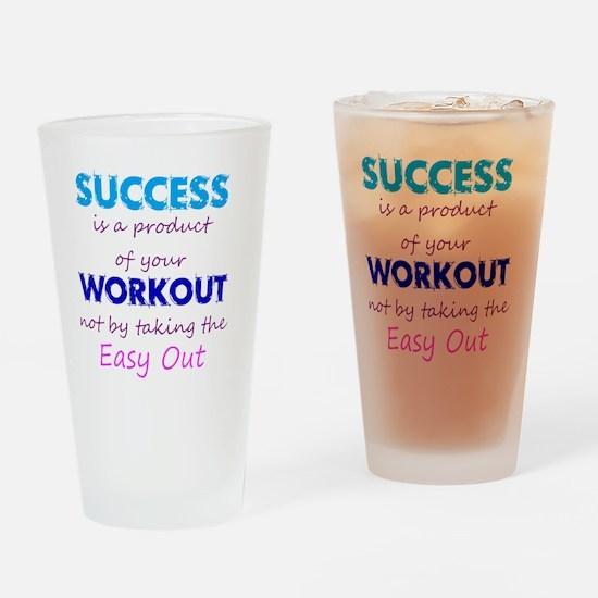 WorkoutSuccess Drinking Glass