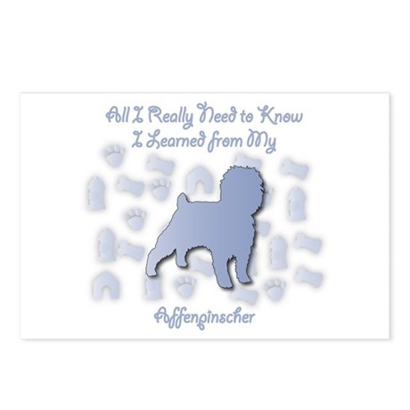 Learned Affenpinscher Postcards (Package of 8)