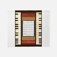Piano Keys Sheet Music Song 5x7 Throw Blanket