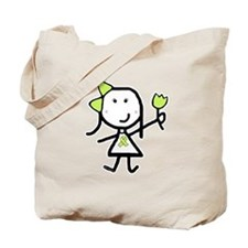 Girl & Lime Ribbon Tote Bag