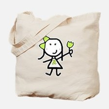 Girl & Lime Ribbon Tote Bag