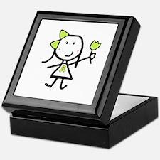 Girl & Lime Ribbon Keepsake Box