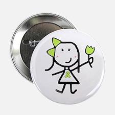 Girl & Lime Ribbon Button