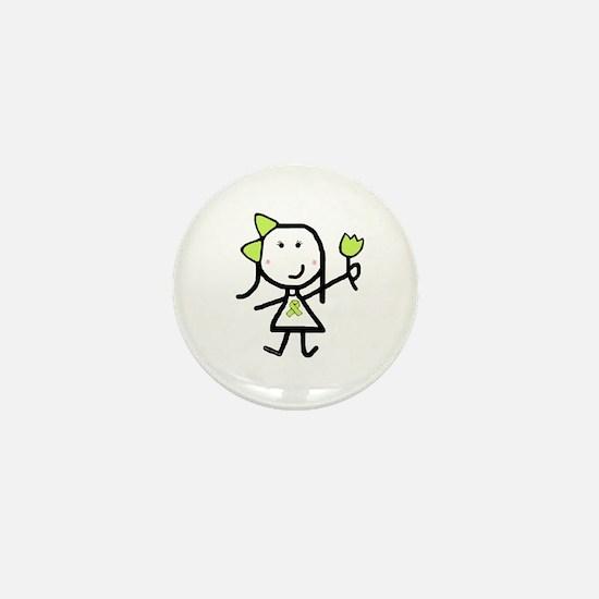 Girl & Lime Ribbon Mini Button