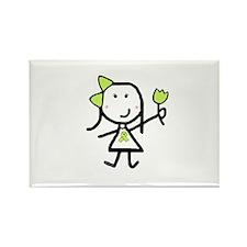 Girl & Lime Ribbon Rectangle Magnet