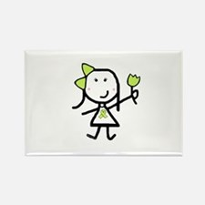 Girl & Lime Ribbon Rectangle Magnet