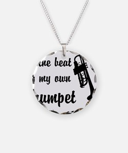 MarchTrumpet Necklace Circle Charm