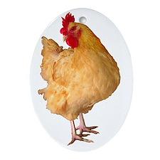 Gert cutout dumb cluck copy Oval Ornament