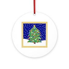 Christmas Let It Snow Decorative Gi Round Ornament