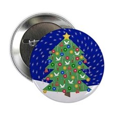 "Christmas Let It Snow Decorative Gift 2.25"" Button"