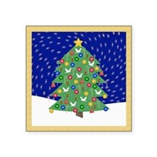 "Christmas Let It Snow Decor Square Sticker 3"" x 3"""