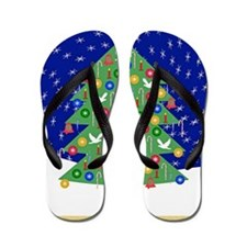 Christmas Let It Snow Decorative Gifts Flip Flops