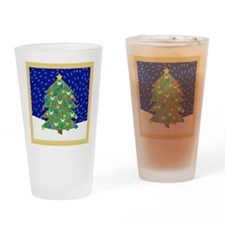 Christmas Let It Snow Decorative Gi Drinking Glass