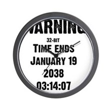 time-ends-1-blackLetters copy Wall Clock