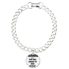time-ends-1-blackLetters Bracelet
