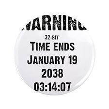 "time-ends-1-blackLetters copy 3.5"" Button"