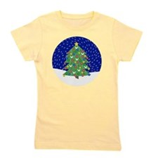 Christmas Tree, Snow Button, Magnet, Je Girl's Tee