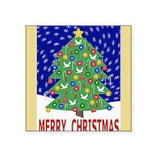 "Merry Christmas Christmas T Square Sticker 3"" x 3"""