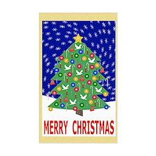 Merry Christmas Christmas Tree Decal