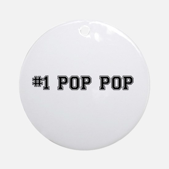 #1 Pop pop Ornament (Round)