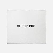 #1 Pop pop Throw Blanket