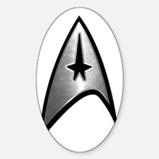 trek silver reflect Sticker (Oval)