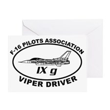 IXG F16 VIPER DRIVER Greeting Card