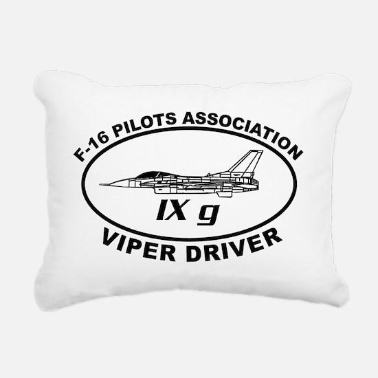 IXG F16 VIPER DRIVER Rectangular Canvas Pillow