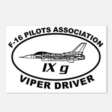 IXG F16 VIPER DRIVER Postcards (Package of 8)