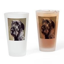IrishWolfhoundCutOutHead Drinking Glass