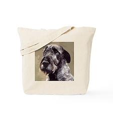 IrishWolfhoundCutOutHead Tote Bag