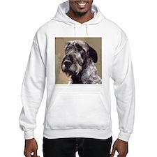 IrishWolfhoundCutOutHead Hoodie