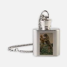 BoyandDog14x10_print Flask Necklace