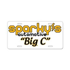 new_sparkys_logo_bigc Aluminum License Plate