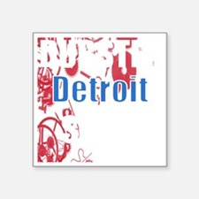 "DubStep Detroit Gears Square Sticker 3"" x 3"""