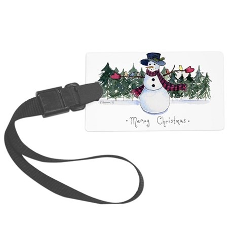 xmas card-front Large Luggage Tag
