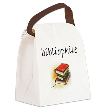 bibliophile Canvas Lunch Bag