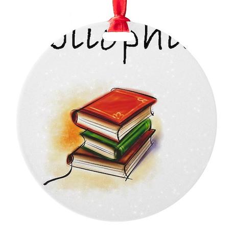 bibliophile Round Ornament