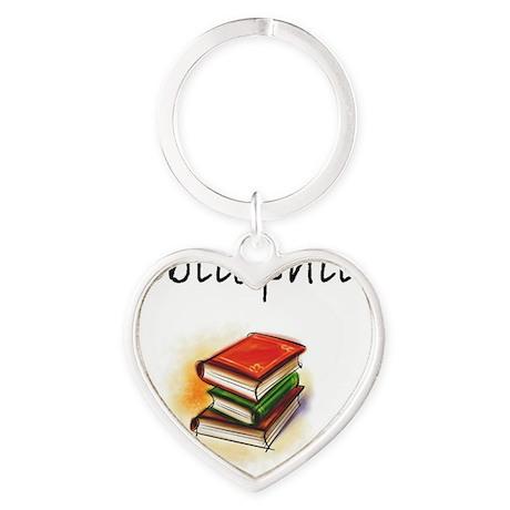 bibliophile Heart Keychain