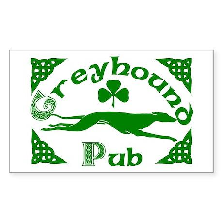Greyhound Pub Rectangle Sticker
